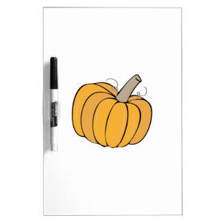 A Pumpkin Dry-Erase Whiteboards