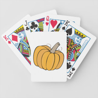 A Pumpkin Bicycle Playing Cards