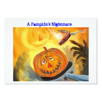 A Pumpkin's Nightmare Halloween Party Invitation