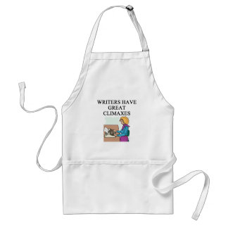 a pun for writers aprons
