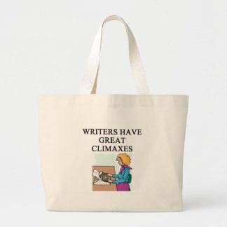 a pun for writers canvas bag