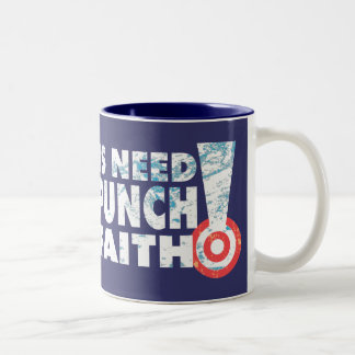 A  Punch In The Faith Coffee Mugs