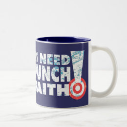 A  Punch In The Faith Two-Tone Coffee Mug