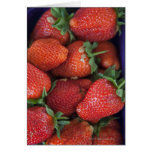 a punnet of ripe fresh strawberries for sale in greeting card