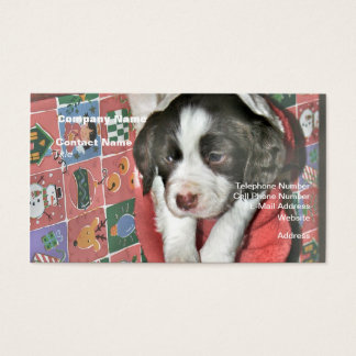 A Puppy For Christmas Business Card