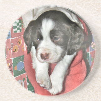 A Puppy For Christmas Drink Coasters