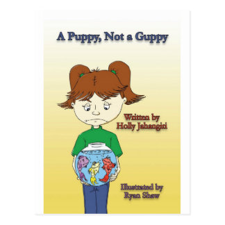A Puppy Not A Guppy cover Postcard