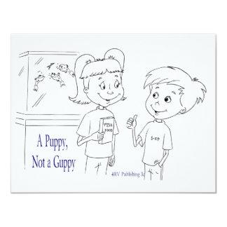 A Puppy, Not a Guppy tank Card
