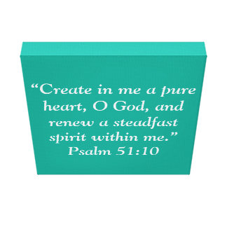 """""""A Pure Heart"""" 12 x 12 Scripture Wrapped Canvas"""