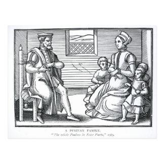 A Puritan Family Postcard