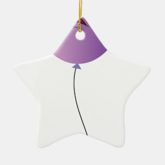 a purple balloon Double-Sided star ceramic christmas ornament