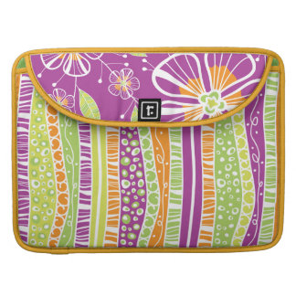 A Purple Bouquet Sleeve For MacBooks