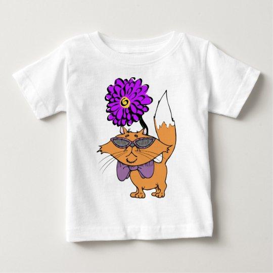 A Purple Cat Dude Baby T-Shirt