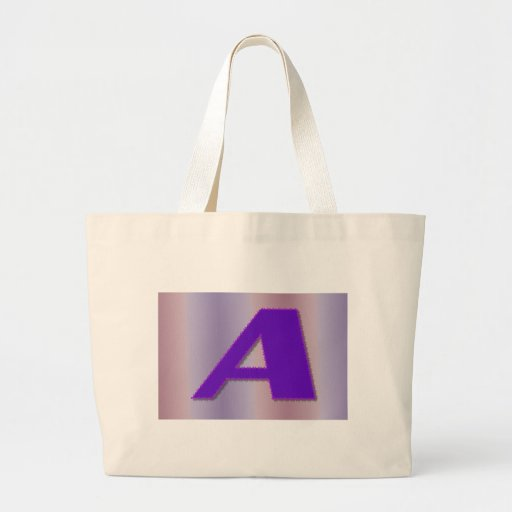 A purple monogram large tote bag