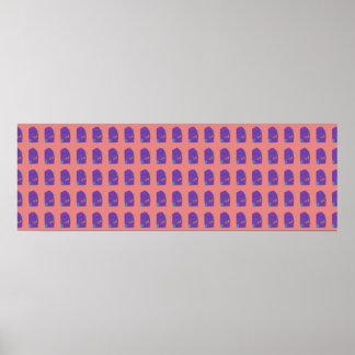A Purple Shield Tiled Horizontal Poster