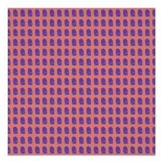 A Purple Shield Tiled Poster