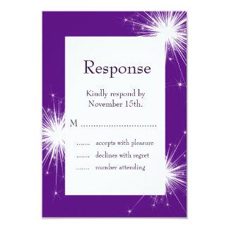 A Purple Sparkler RSVP 3.5x5 Paper Invitation Card