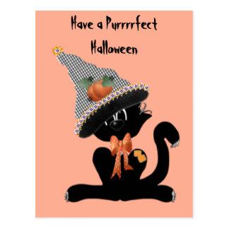 A Purrrrfect Halloween Postcard