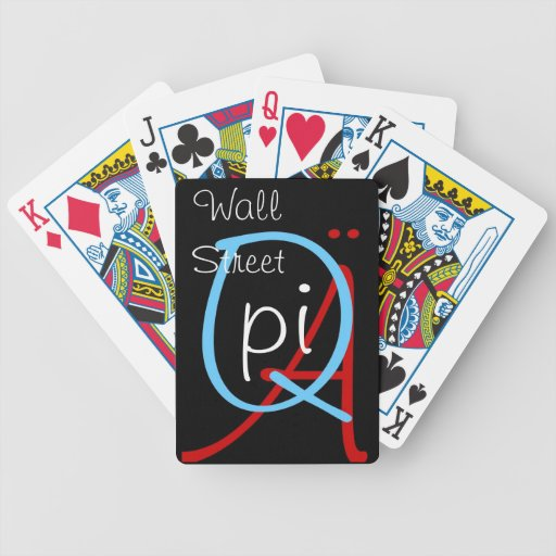 a q pi wall street bicycle playing cards