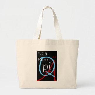 a q pi wall street large tote bag