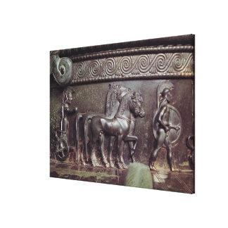 A Quadriga and a Hoplite Canvas Print