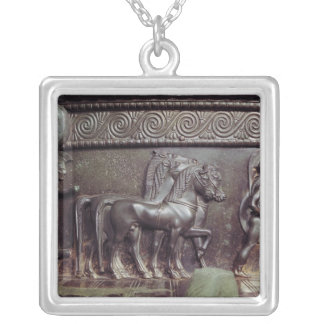 A Quadriga and a Hoplite Silver Plated Necklace