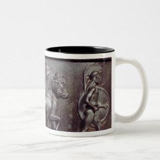 A Quadriga and a Hoplite Two-Tone Coffee Mug
