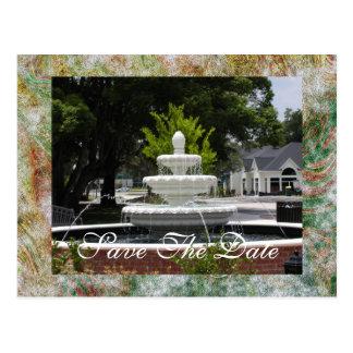 A Quaint Fountain Postcard