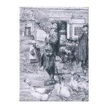 A Quaker Exhorter in New England Canvas Print
