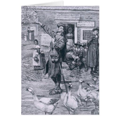 A Quaker Exhorter in New England Card