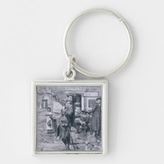 A Quaker Exhorter in New England Keychain