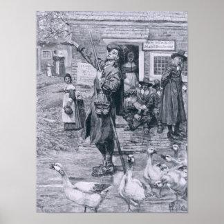 A Quaker Exhorter in New England Poster