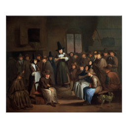 A Quakers Meeting Poster