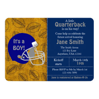 A Quarterback is On His Way Baby Shower Invite