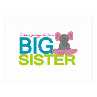 A que va a ser un elefante de la hermana grande tarjeta postal