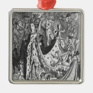 A queen metal ornament