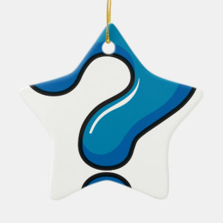 A question mark symbol Double-Sided star ceramic christmas ornament