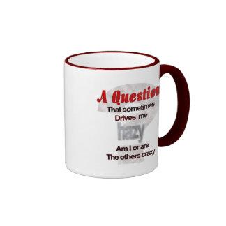 A Question That Sometimes Drives Me Hazy... Ringer Mug