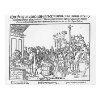 A Question to a Mintmaker, c.1500 Postcard