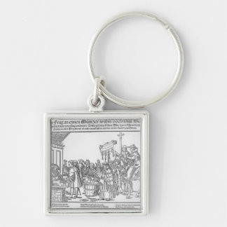 A Question to a Mintmaker, c.1500 Silver-Colored Square Keychain