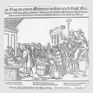 A Question to a Mintmaker, c.1500 Square Sticker