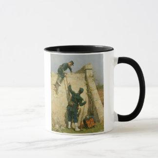 A Quick Escape (oil on panel) Mug
