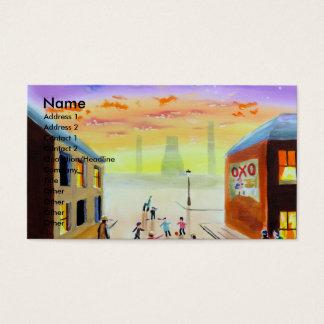 """""""a quick kick about"""" UK art Gordon Bruce Business Card"""
