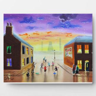 """""""a quick kick about"""" UK art Gordon Bruce Plaque"""
