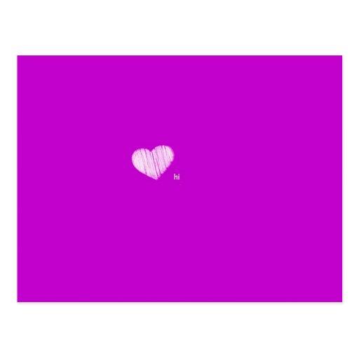 A Quick Little Hello - Purple Postcards