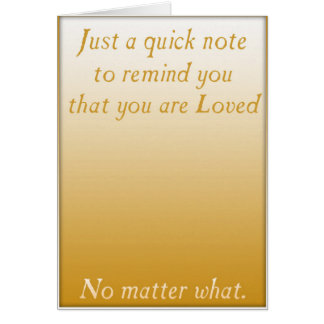 A quick reminder of Love (Gold) Card