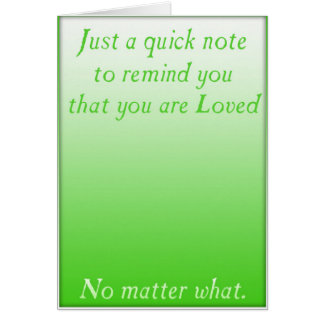 A quick reminder of Love (Green) Card