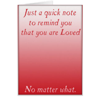 A quick reminder of Love (Red) Card