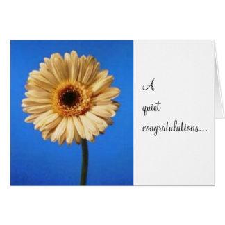a quiet congratulations... card