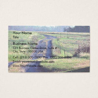 A quiet country lane business card